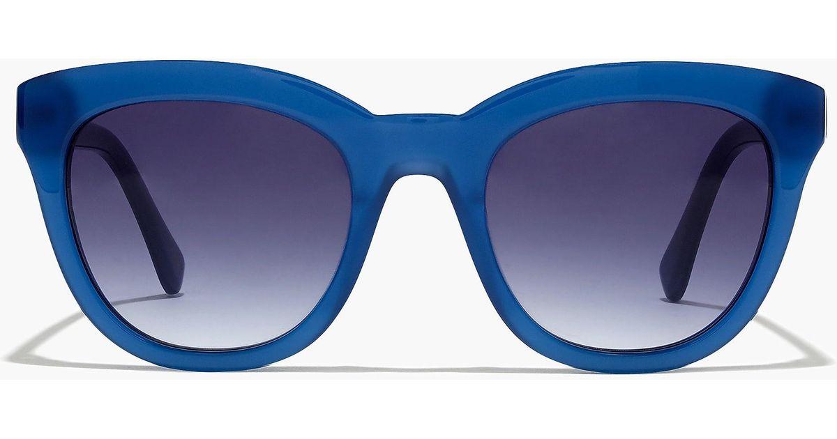 b8551e2d6c J.Crew Cabana Oversized Sunglasses in Blue - Lyst