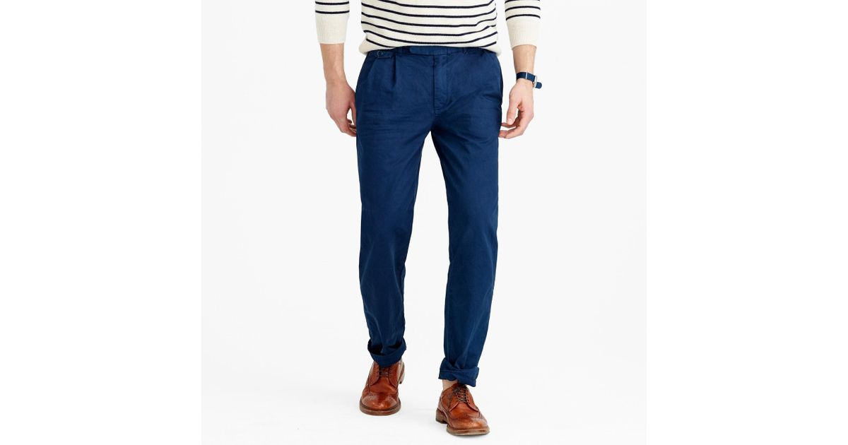 c661f6442e83 J.Crew Wallace   Barnes Double-pleated Relaxed-fit Military Chino Pant in  Black for Men - Lyst
