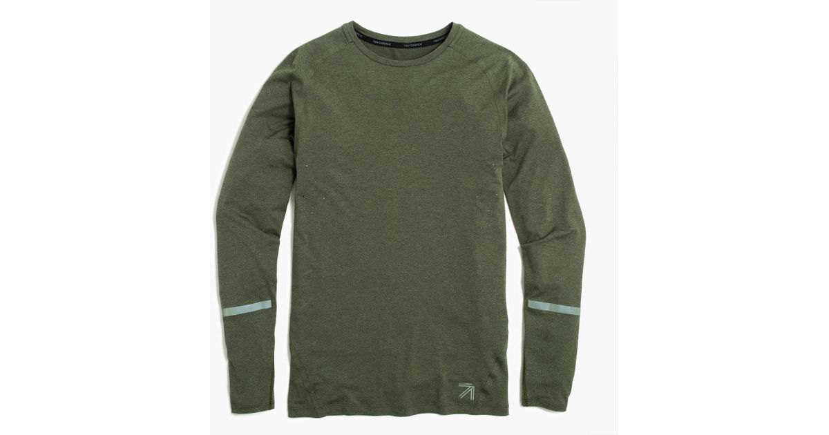 972b728fcdfcf Lyst - J.Crew New Balance Long-sleeve Compression Shirt in Green for Men