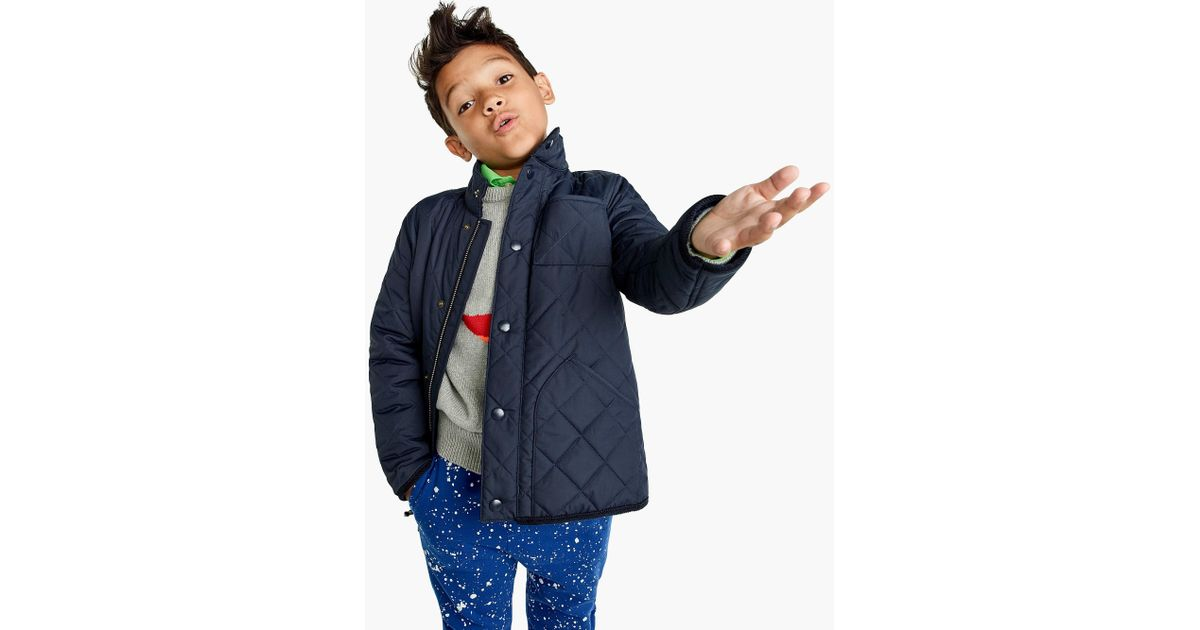 c2ac11ea92ea Lyst - J.Crew Boys  Sussex Quilted Jacket in Blue for Men