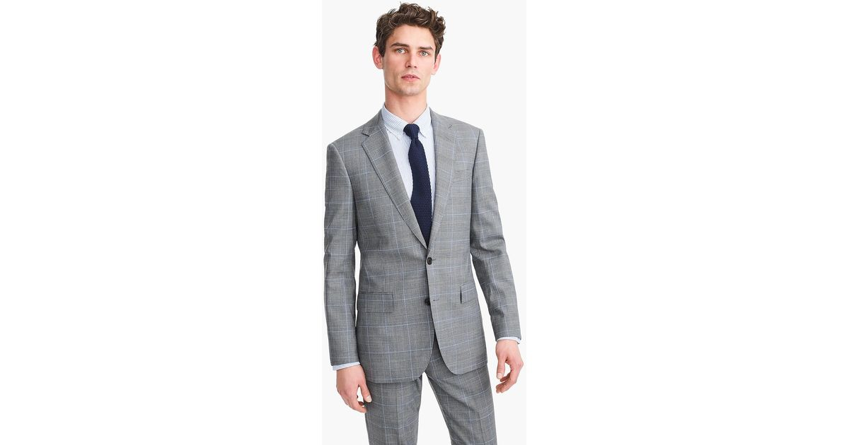 ffceecc01c663 J.Crew Ludlow Essential Slim-fit Suit Jacket In Glen Plaid Stretch Four-season  Wool in Gray for Men - Lyst