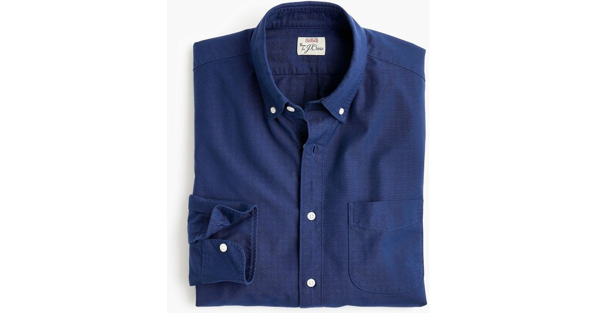 d79afbe4c7f40 Lyst - J.Crew Slim American Pima Cotton Oxford Shirt With Mechanical Stretch  in Blue for Men