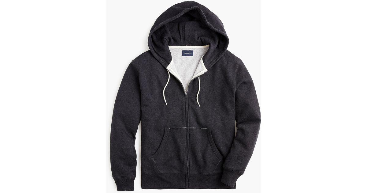 fdf7fa960 J.Crew Tall Brushed Fleece Full-zip Sweatshirt in Black for Men - Lyst