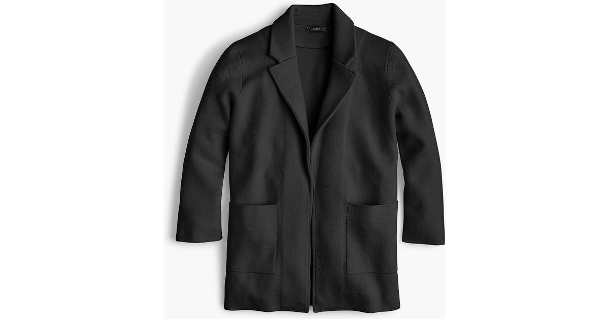 44718a57b365 Lyst - J.Crew Sophie Open-front Sweater-blazer in Black