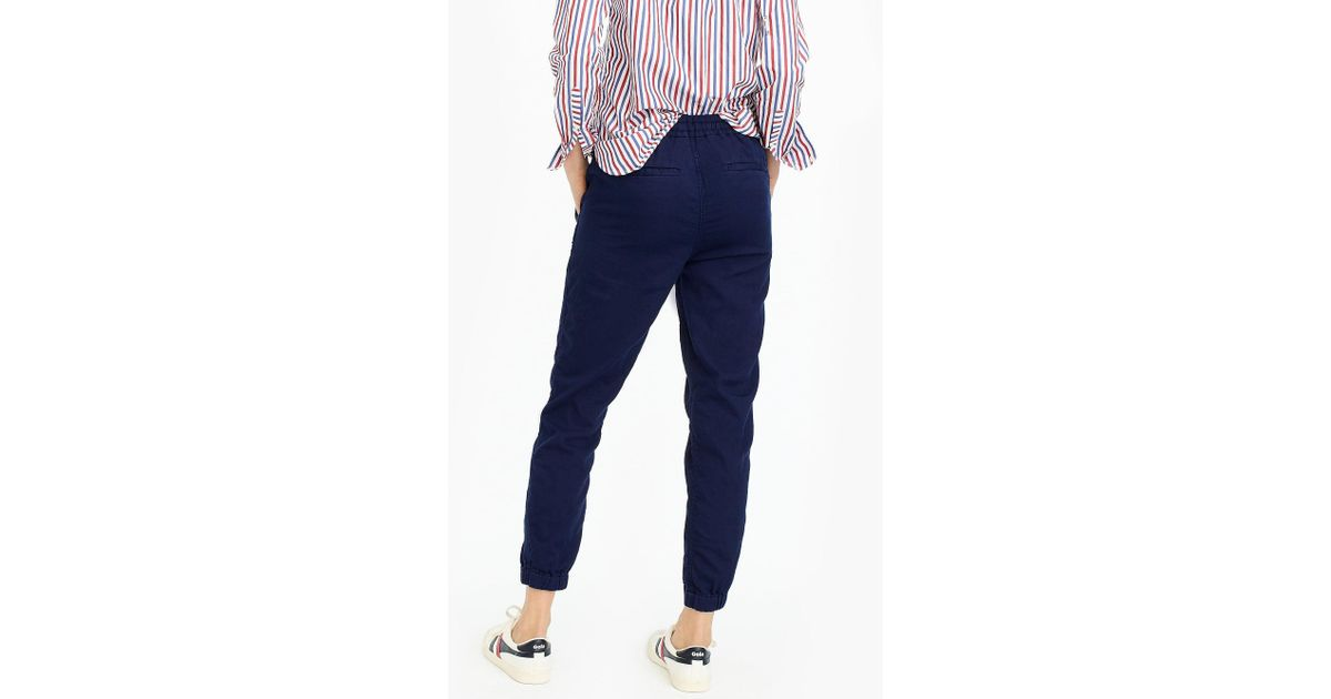 db517ab7 J.Crew Point Sur Seaside Pant In Cotton Twill in Blue - Save 27% - Lyst