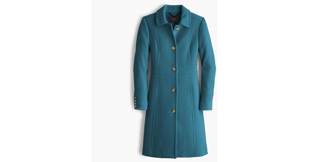 Lyst - J.Crew Italian Double-cloth Wool Lady Day Coat With Thinsulate in  Blue 27bde96bb908