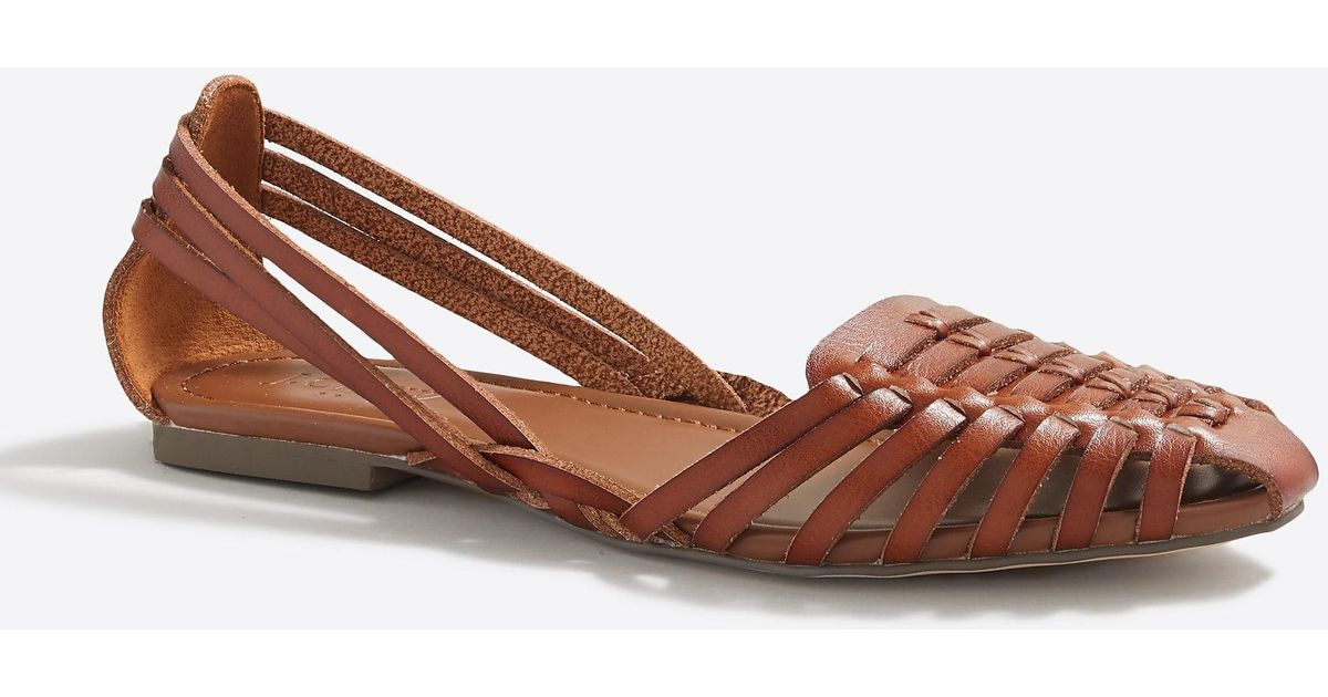 57127c0caee Lyst - J.Crew Huarache Sandals in Brown