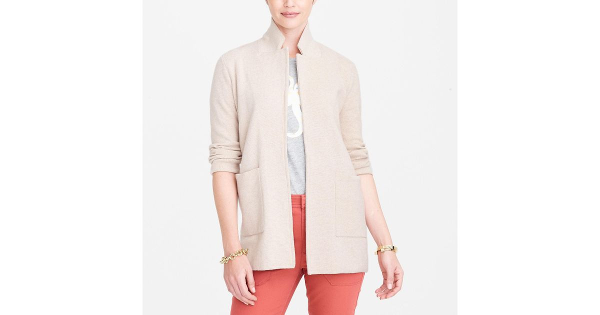 692b02233d Lyst - J.Crew Open-front Sweater Blazer in Natural