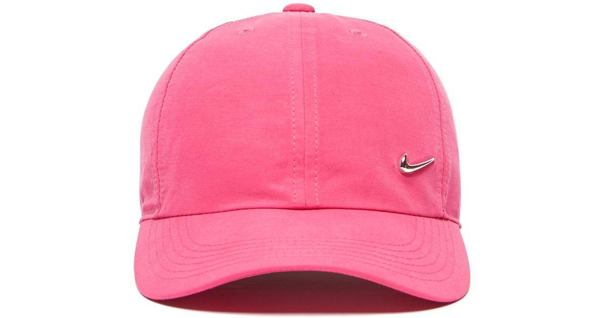 dea3ef3b18e4f Lyst - Nike Side Swoosh Cap Junior in Pink