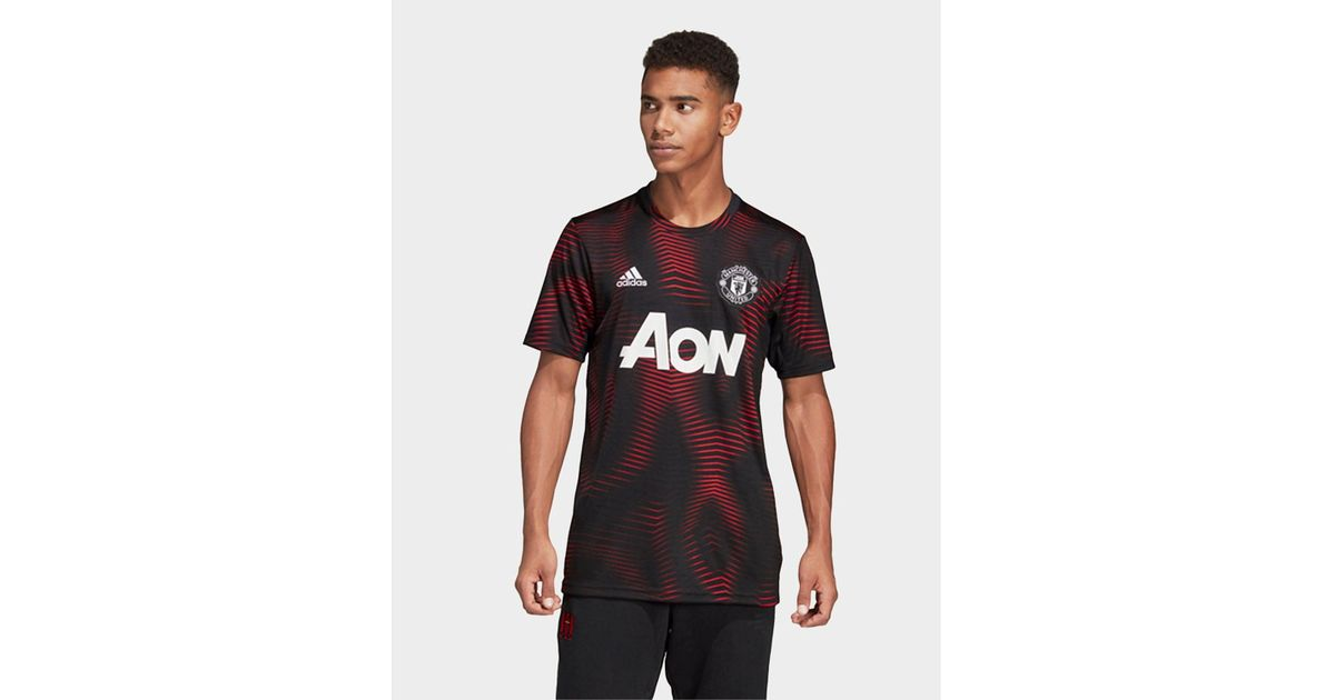 bad27dc0b8e adidas Manchester United Home Pre-match Jersey in Black for Men - Lyst