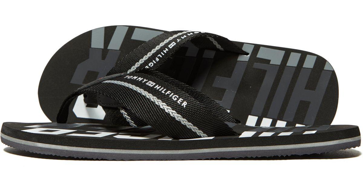 68b12fdf5d3ef Lyst - Tommy Hilfiger Bold Beach Flip Flops in Black for Men - Save 3%