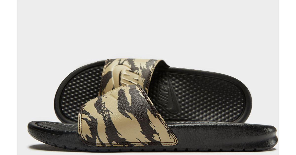 1e9947f6f072 Lyst - Nike Benassi Slides in Green for Men