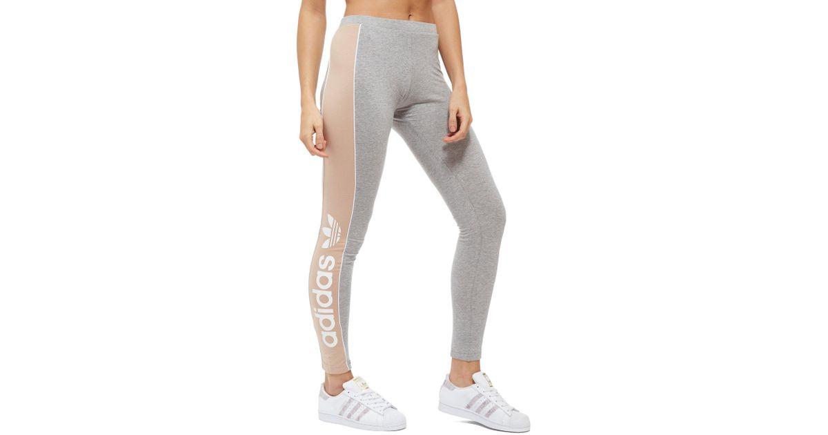 9e58d7298a4f6 Lyst - adidas Originals Linear Leggings in Gray
