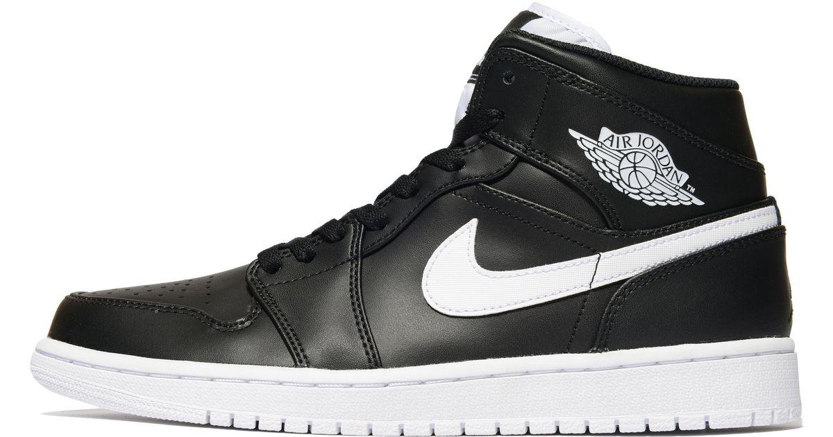 buy popular 3ec3e 23612 Lyst - Nike Air Jordan 1 Mid in Black for Men