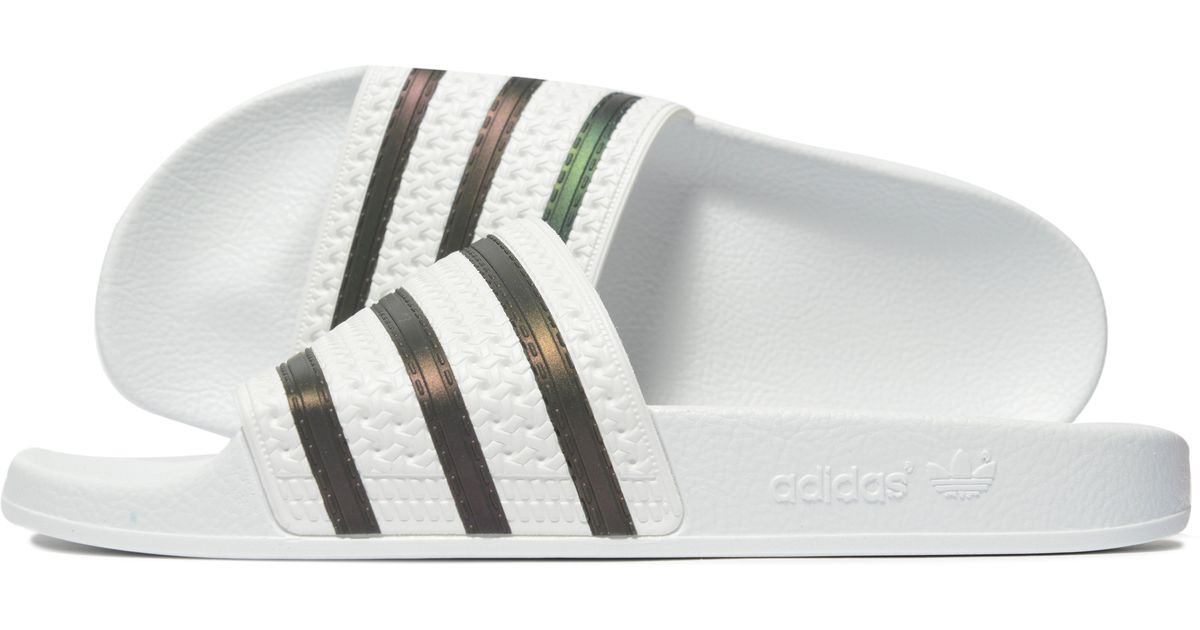 a4c1644a342c Lyst - adidas Originals Adilette Slides in White