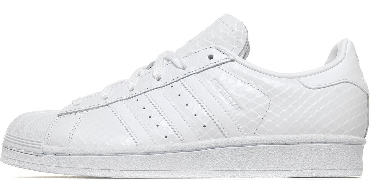 huge discount fa66b ad850 Adidas Originals - White Superstar Snake - Lyst