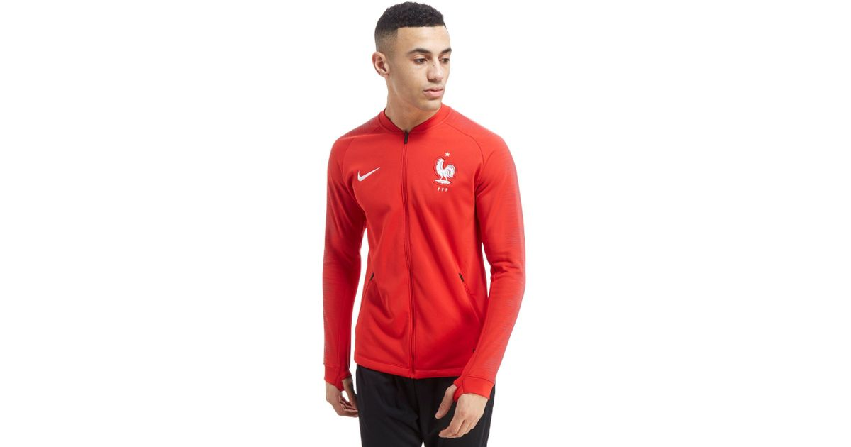 Lyst - Nike France Anthem Jacket in Red for Men 0e6b55e14a0