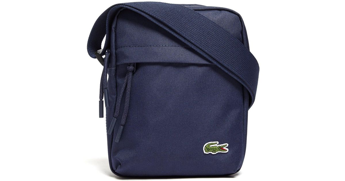 7ff998512e Lacoste Navy Small Format Fabric Shoulder Bag in Blue for Men - Lyst