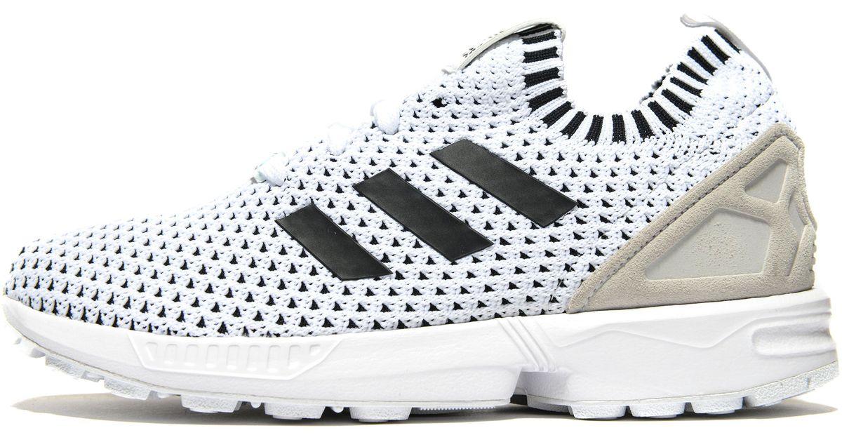 online store 65272 ecfb0 Adidas Originals - White Zx Flux Primeknit Junior for Men - Lyst