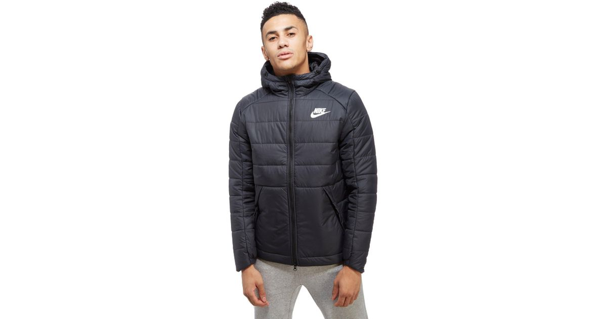 fbb6d058b4a4 Lyst - Nike Bubble Jacket in Black for Men