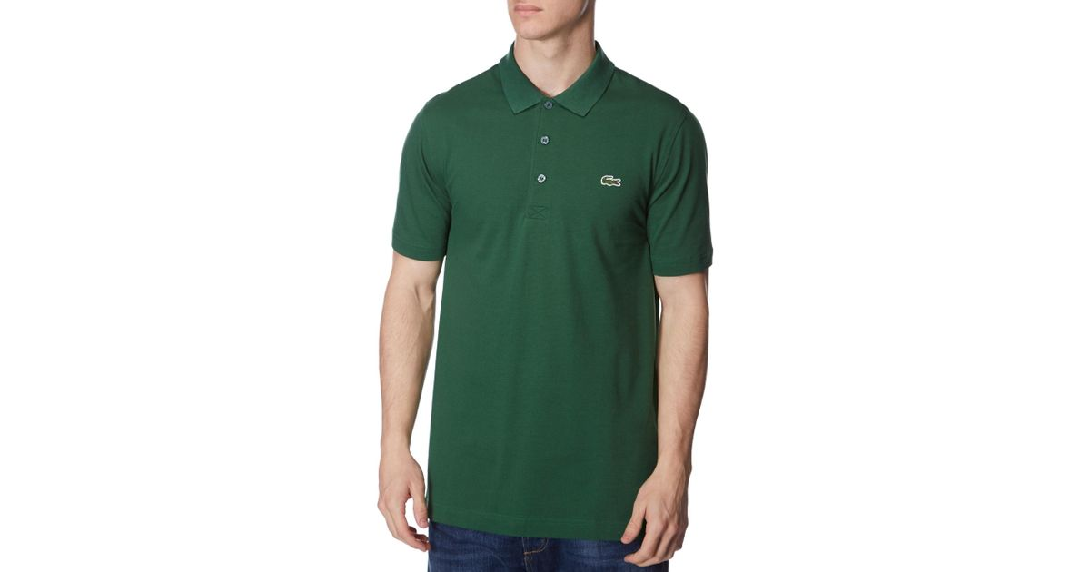 Lyst lacoste alligator polo shirt in green for men for Lacoste shirts with big alligator