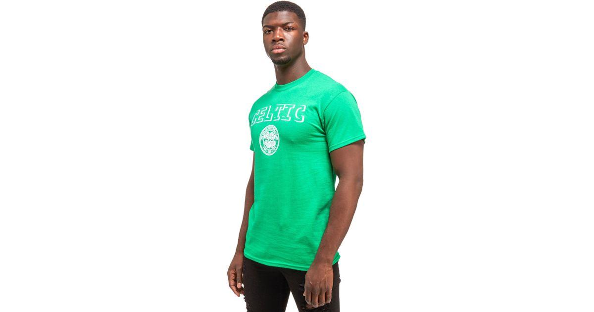 New Balance Celtic Badge Shirt in Green for Men - Lyst 1d011c617