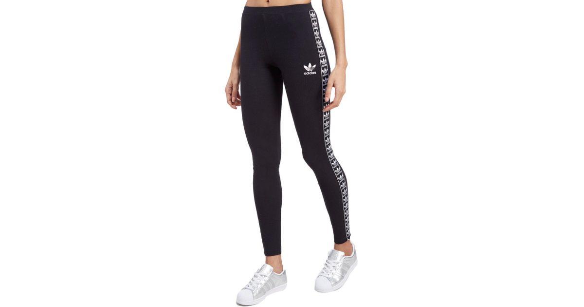 f60928178 adidas Originals Tape Leggings in Black - Lyst