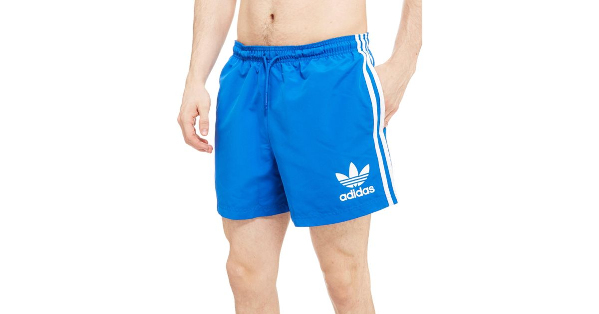 75899f43cfebd adidas Originals California Swimshorts in Blue for Men - Save 57% - Lyst