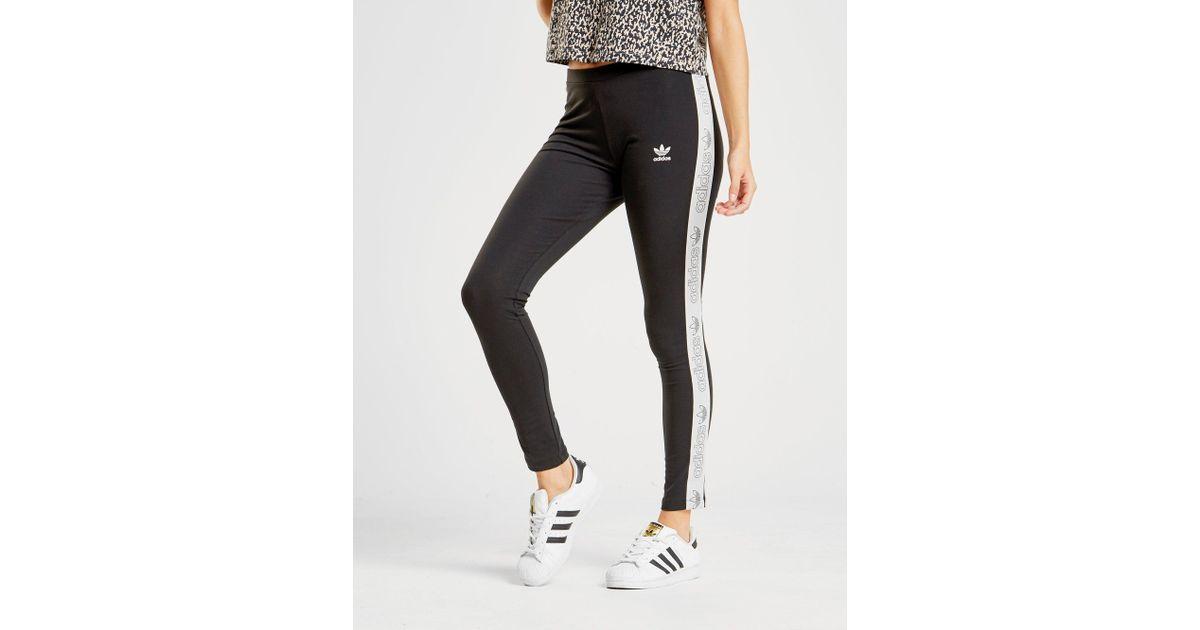 4f02cda5b56618 adidas Originals Tape Leggings in Black - Lyst