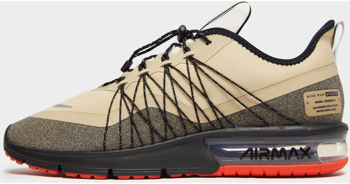 ab87869e62 Nike Air Max Sequent 4 Utility in Black for Men - Lyst