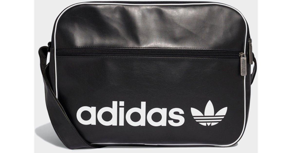 c0107b04d1 Adidas Vintage Airliner Bag in Black for Men - Lyst