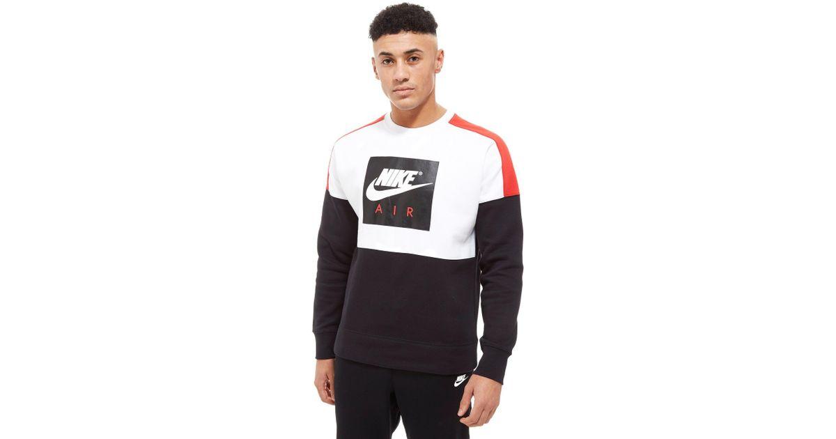 81c8edd9889 Nike Air Crew Sweatshirt in White for Men - Lyst