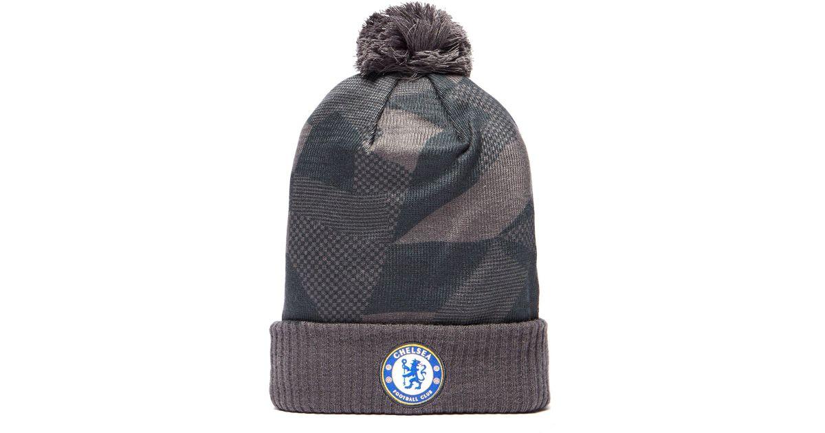 15485f0b069 ... spain lyst nike chelsea city fc beanie hat in gray for men d1c50 b0428