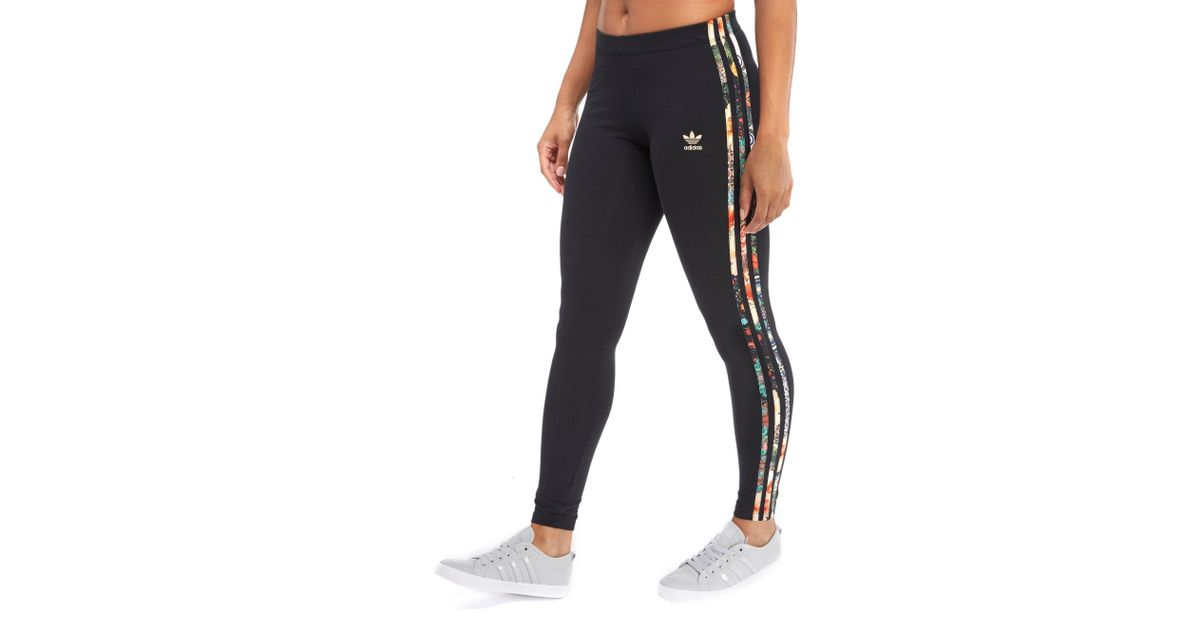 ece5b90fb Lyst - adidas Originals 3-stripes Leggings Farm Pack in Black