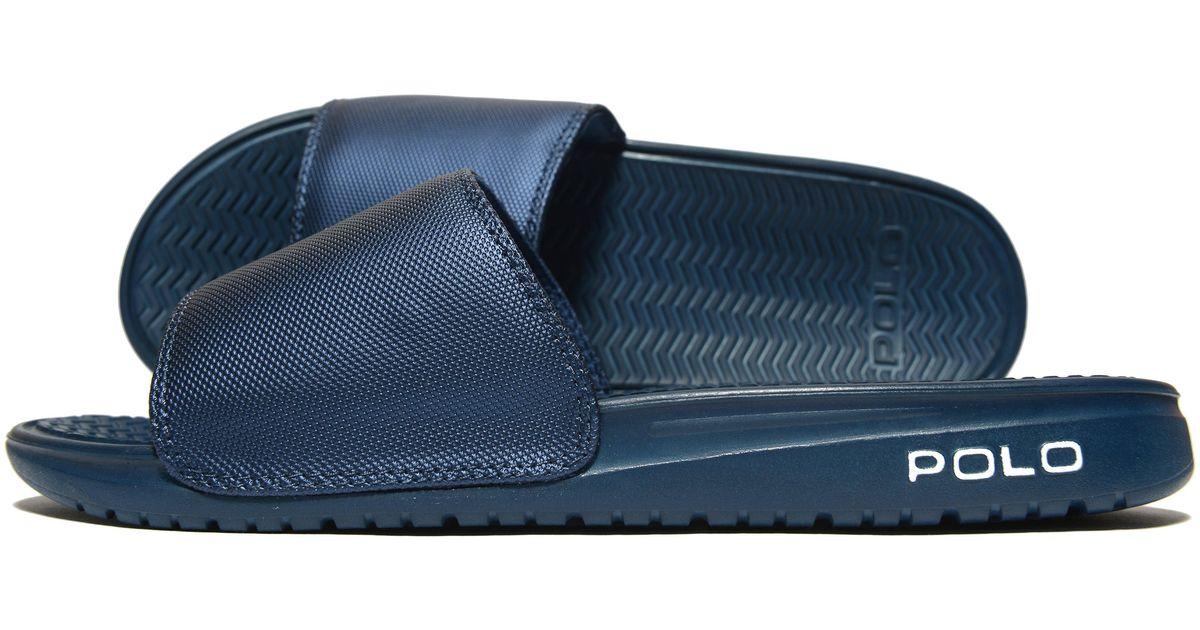 99070b1d5408 Lyst - Polo Ralph Lauren Rodwell Slides in Blue for Men