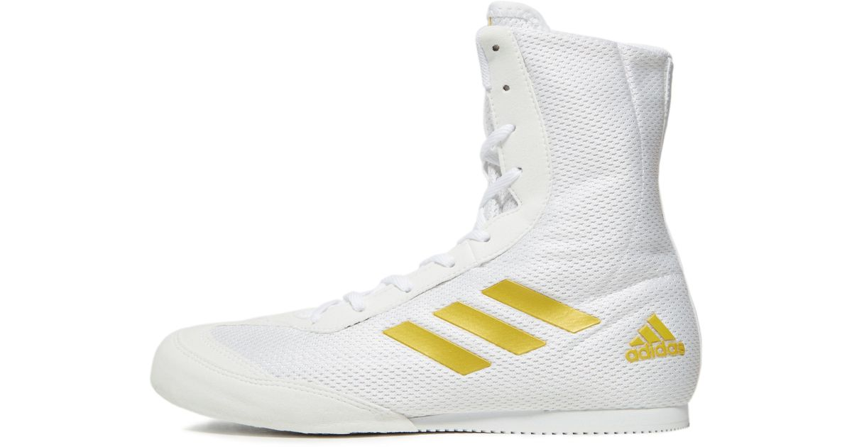 best service 75699 55088 Lyst - adidas Box Hog Plus Boxing Shoes in White for Men