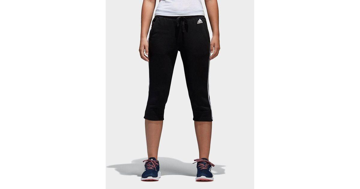 090182ebee8fc adidas-BlackWhite-Essentials-3-Stripes-Three-Quarter-Pants.jpeg