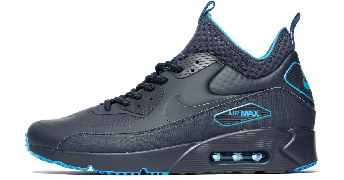 Lyst - Nike Air Max 90 Ultra Mid Winter Se in Blue for Men a8c93df200fb