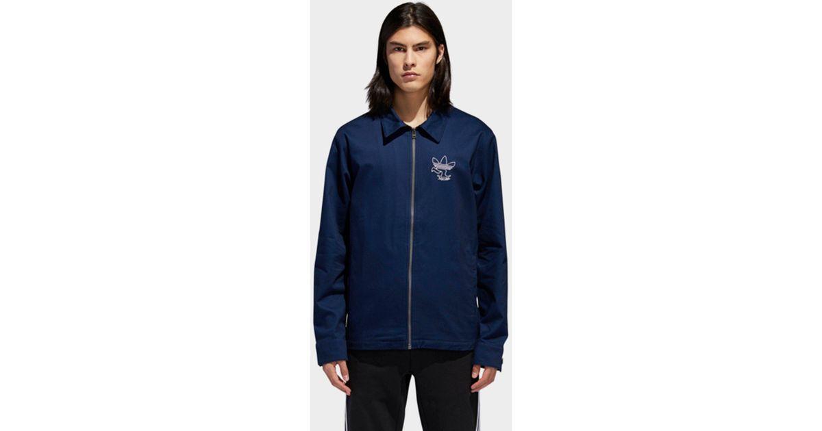 a5d887d7bc7 Adidas Blue Ankeny Jacket for men
