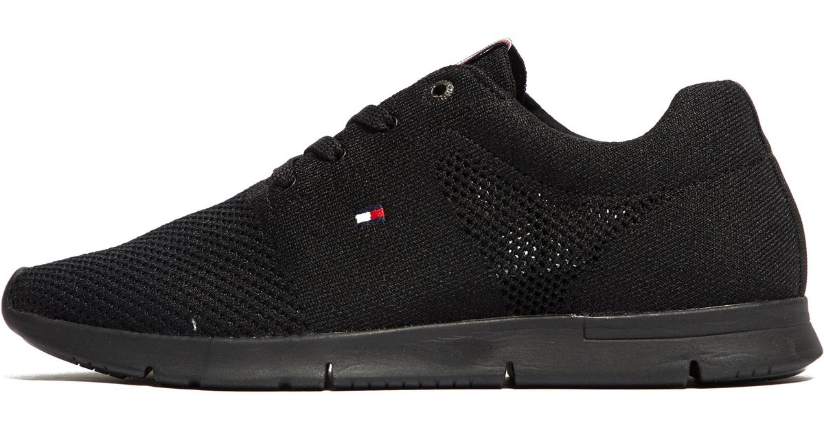 82e76e07b Tommy Hilfiger Tobias Knit Trainer in Black for Men - Lyst