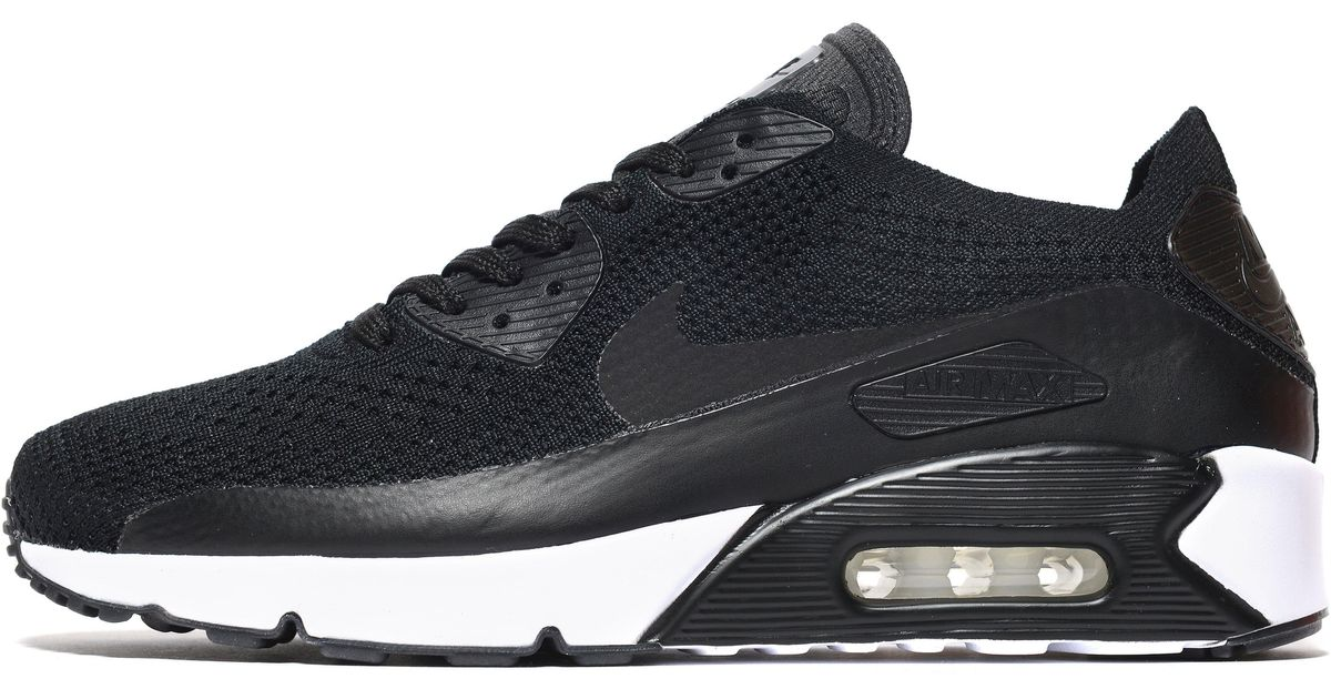 low priced 3bcdf 8a263 Nike - Black Air Max 90 Ultra 2.0 Flyknit for Men - Lyst