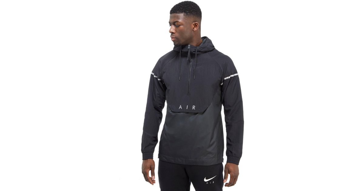 2a787387a401 Lyst - Nike Air Hybrid 1 2 Zip Woven Jacket in Black for Men