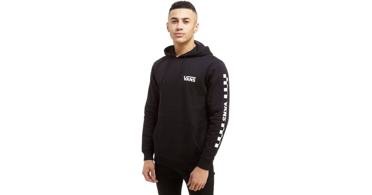 Lyst - Vans Checkered Drop V Sleeve Hoodie in Black for Men 03f189c66