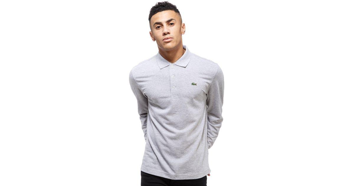 Lyst Lacoste Gray Shirt Men Sleeve Wiyehd29 For Polo Alligator Long sCdtrxhQBo