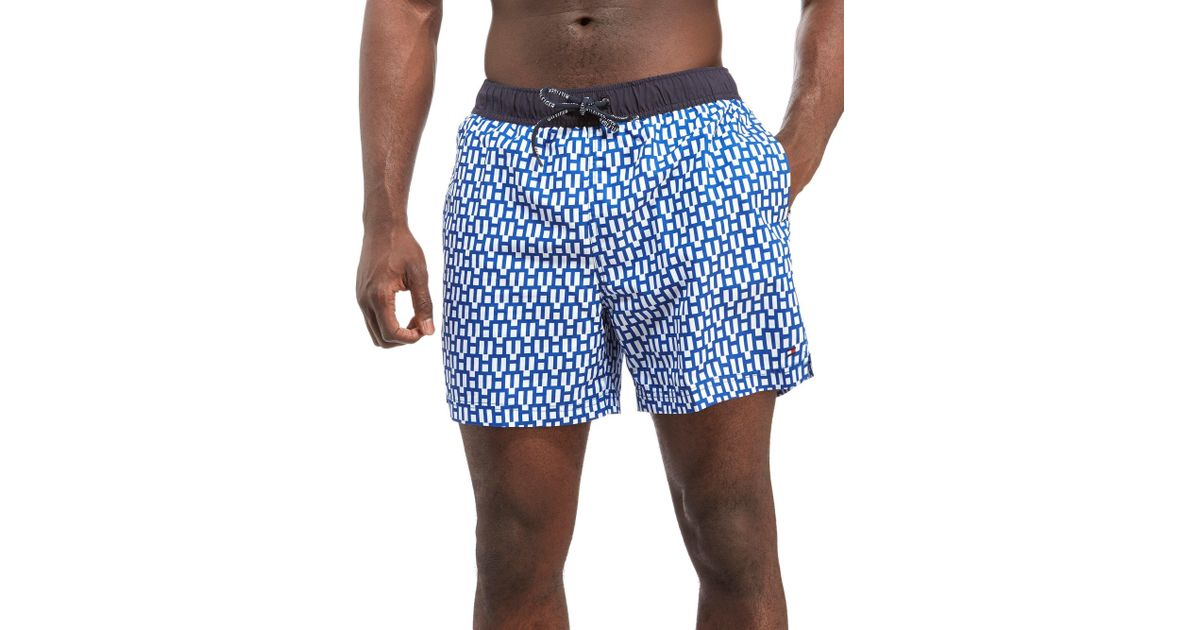 a18276d35cf85 Lyst - Tommy Hilfiger Swimming Shorts in Blue for Men