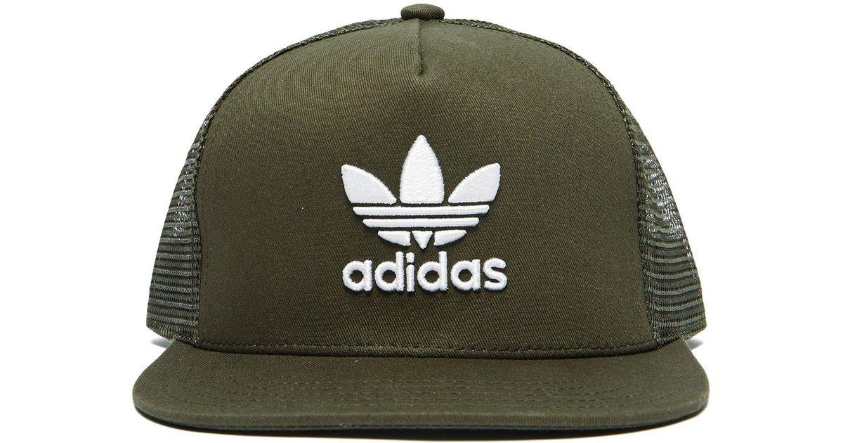 138fdcc249a adidas Originals Melange Trefoil Cap Green in Green for Men - Save 24% -  Lyst