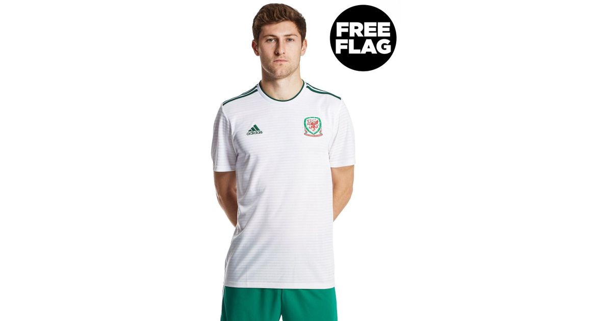 eeef20151eb Lyst - adidas Wales 2018 19 Away Shirt in White for Men