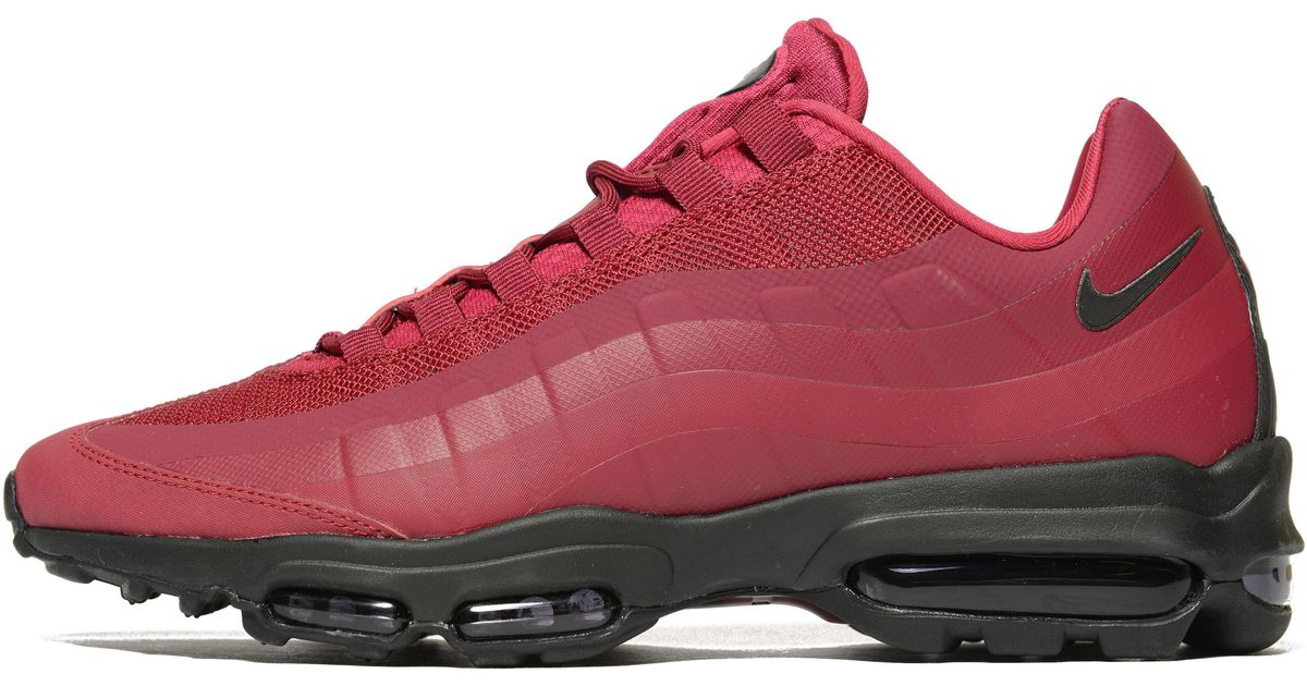 5ad0b3ec5aa nike air max 95 ultra essential red and white Lyst - Nike Air Max 95 Ultra