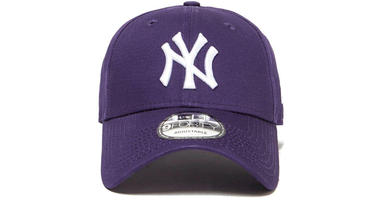 b7cf5a6a2db Lyst - Ktz Mlb New York Yankees 9forty Cap in Purple for Men
