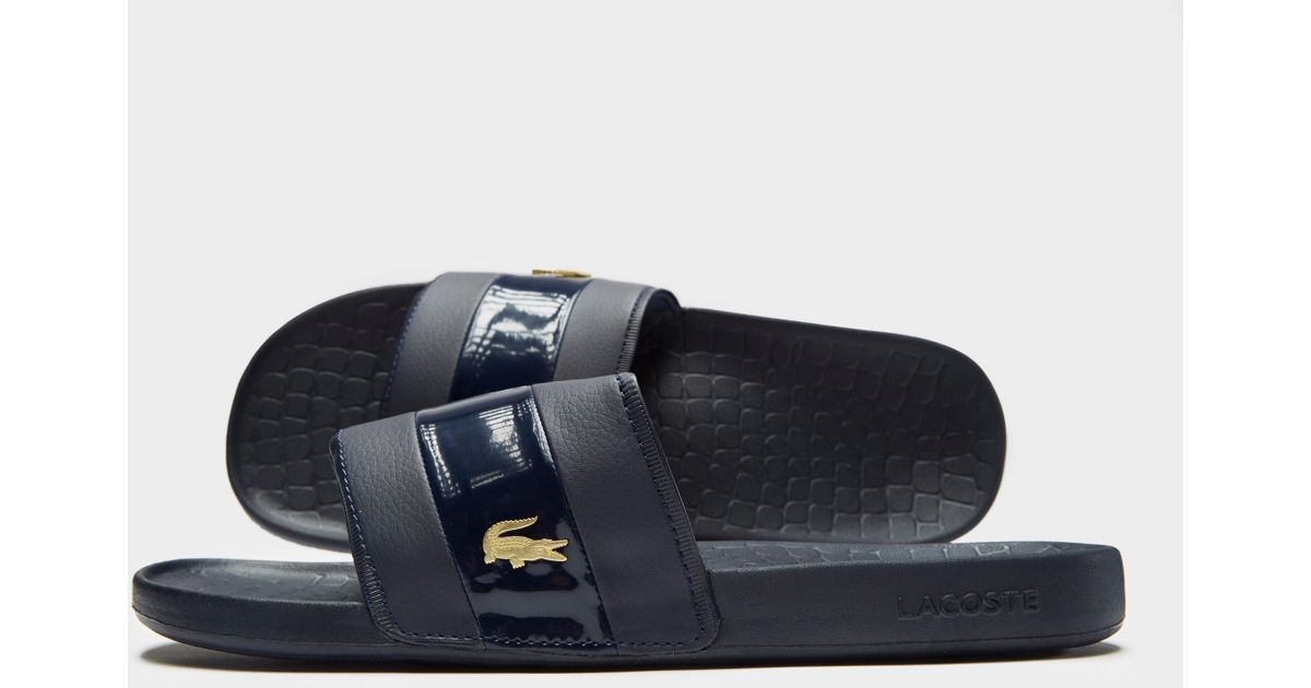75d91eb6504a Lacoste Frasier Deluxe Slides in Blue for Men - Lyst